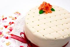 Torta festiva del marzapane Fotografia Stock Libera da Diritti