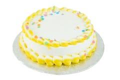 Torta festiva en blanco Imágenes de archivo libres de regalías