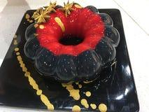 Torta francesa de la crema batida del postre foto de archivo