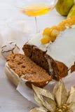 Torta francesa de la Navidad Foto de archivo