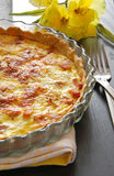Torta francesa, quiche Lorena Fotos de Stock Royalty Free
