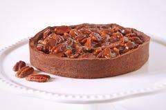 Torta francese del pecan del cioccolato Fotografia Stock Libera da Diritti