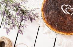 Torta francese della noce di cocco Fotografie Stock Libere da Diritti