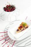 Torta fresca de las cerezas Fotos de archivo