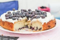 Torta fresca del arándano Fotos de archivo