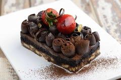 Torta húmeda del chocolate imágenes de archivo libres de regalías