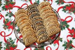 Torta húngara tradicional hecha en casa de la Navidad Foto de archivo libre de regalías