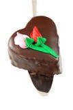 Torta Heart-shaped della mousse Immagini Stock