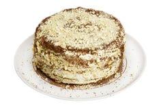 Torta hecha en casa de la Navidad Fotografía de archivo libre de regalías