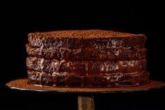 Torta hecha en casa del chocolate Imagen de archivo libre de regalías