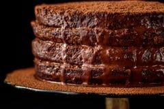 Torta hecha en casa del chocolate Fotografía de archivo