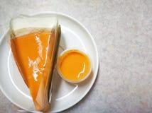 Torta hecha en casa dulce del té de la torta tailandesa del crepé del postre de Tailandia imágenes de archivo libres de regalías
