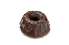 Torta helada chocolate del bundt Imagenes de archivo