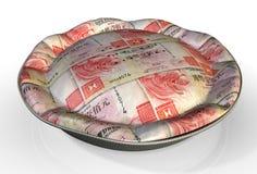 Torta Hong Kong Dollar dei soldi Fotografia Stock Libera da Diritti