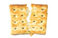 Torta incrinata del cracker. Fotografia Stock