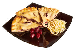 Torta isolada no branco Imagem de Stock Royalty Free