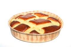 Torta isolada sobre o branco Imagens de Stock Royalty Free