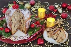 Torta italiana de la Navidad Fotografía de archivo libre de regalías