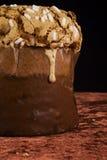 Torta italiana del panettone Fotos de archivo libres de regalías