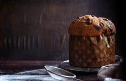 Torta italiana del panettone Fotografía de archivo