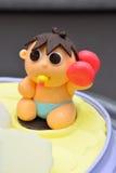 Torta linda del bebé Foto de archivo