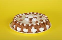 Torta maravilhosa em um prato Fotos de Stock