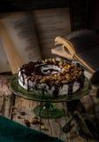 Torta maravillosamente adornada Foto de archivo libre de regalías