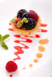 Torta menuda de la fruta Imagen de archivo libre de regalías