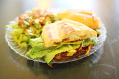 Torta Milanese or Mexican style sandwich Royalty Free Stock Photography