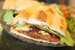 Torta Milanese or Mexican style sandwich stock photo