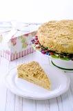 Torta napoleon Fotos de archivo