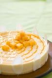 Torta naturalmente deliciosa de la fruta del queso Fotos de archivo libres de regalías