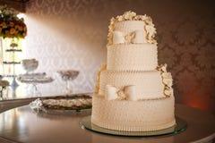 Torta nunziale Fotografia Stock Libera da Diritti
