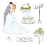 Torta nunziale royalty illustrazione gratis