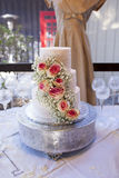 Torta nunziale d'annata Fotografie Stock