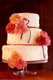 Torta nunziale decorativa Fotografia Stock