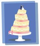 Torta nunziale della vaniglia Fotografia Stock