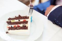 Torta nunziale eccellente Fotografie Stock Libere da Diritti