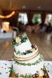 Torta nunziale rotta, alimento di nozze, dessert festivo, piatti deliziosi fotografia stock libera da diritti