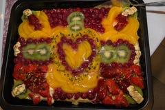 Torta nupcial Foto de archivo libre de regalías