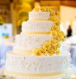 Pastel de bodas Foto de archivo libre de regalías