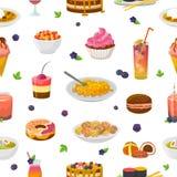 Torta o magdalena azulada del vector de la comida con el arándano y el postre dulce con el sistema azulado de la turquesa del eje libre illustration