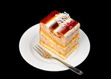 Torta operata con gelatina sulla parte superiore Fotografia Stock