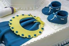 Torta para el bautizo. Detalle 1 Fotos de archivo libres de regalías