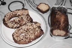 Torta para el desayuno imagenes de archivo