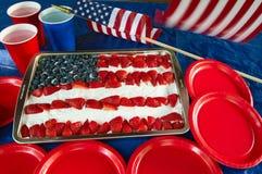 Torta patriótica fotografía de archivo libre de regalías
