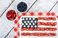 Torta patriótica de la bandera americana Fotografía de archivo