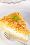 Torta plana con una almendra y un azúcar Fotografía de archivo