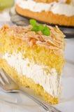 Torta plana con una almendra y un azúcar Imágenes de archivo libres de regalías