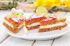 Torta polaca tradicional de Pascua Fotos de archivo